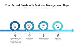 Four Curved Roads With Business Management Steps