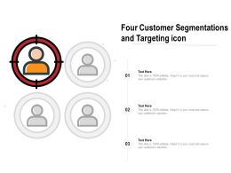 Four Customer Segmentations And Targeting Icon
