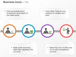 Four Customer Service Steps Ppt Icons Graphics