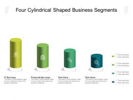 Four Cylindrical Shaped Business Segments