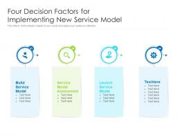 Four Decision Factors For Implementing New Service Model