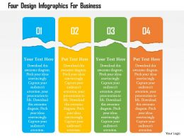 Four Design Infographics For Business Flat Powerpoint Design