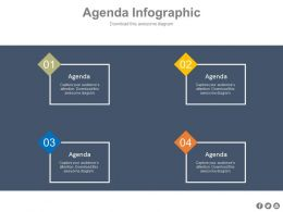 Four Different Agenda Analysis For Business Powerpoint Slides