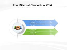 Four Different Channels Of GTM