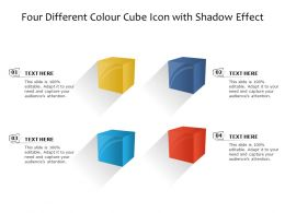 Four Different Colour Cube Icon With Shadow Effect