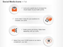 Four Different Mail Communication Chat Bubbles Ppt Icons Graphics