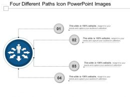 Four Different Paths Icon Powerpoint Images