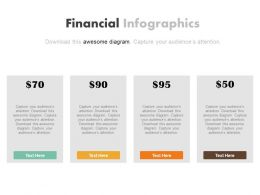 Four Different Price Tags For Finance Powerpoint Slides