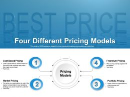 Four Different Pricing Models