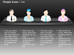 Four Different Professionals Peoples Ppt Icons Graphics