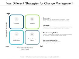 Four Different Strategies For Change Management