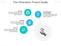 Four Dimensions Product Quality Ppt Powerpoint Presentation Slides Inspiration Cpb