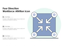 Four Direction Workforce Attrition Icon
