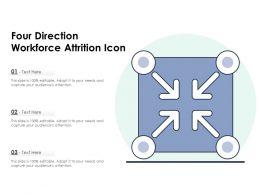 Four Direction Workforce Attrition Icon