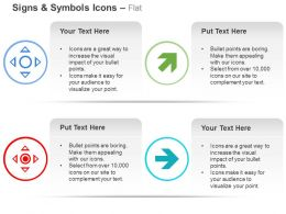 Four Directional Arrows Direction Indication Ppt Icons Graphics