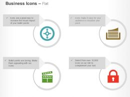 four_directional_cycle_data_record_flip_lock_ppt_icons_graphics_Slide01