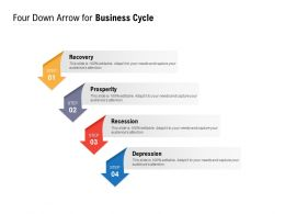 Four Down Arrow For Business Cycle
