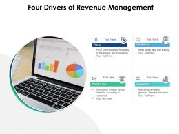 Four Drivers Of Revenue Management