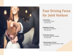 Four Driving Force For Joint Venture
