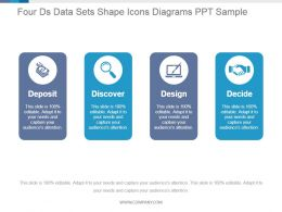 Four Ds Data Sets Shape Icons Diagrams Ppt Sample
