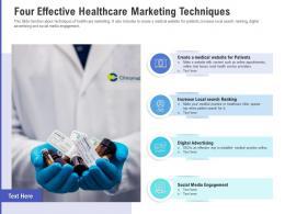Four Effective Healthcare Marketing Techniques