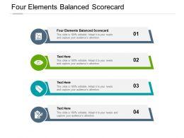 Four Elements Balanced Scorecard Ppt Powerpoint Presentation Guidelines Cpb