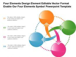Four Elements Design Element Editable Vector Format Enable Our Four Elements Symbol Template