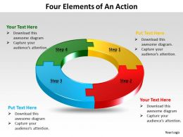 Four Elements of An Action powerpoint slides templates infographics images 1121