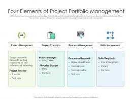 Four Elements Of Project Portfolio Management