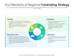 Four Elements Of Regional Fundraising Strategy