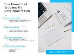 Four Elements Of Sustainability Development Plan