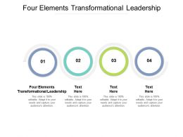 Four Elements Transformational Leadership Ppt Powerpoint Presentation Ideas Cpb