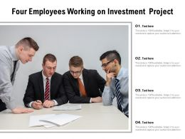 Four Employees Working On Investment Project