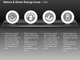 Four Energy Meters Power Level Indication Ppt Icons Graphics