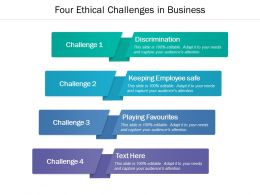 Four Ethical Challenges In Business