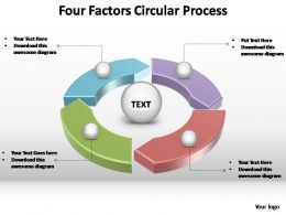 four factors circular process powerpoint slides templates