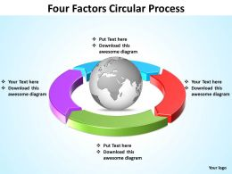 four factors circular process powerpoint slides templates infographics images 1121