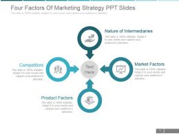 Four Factors Of Marketing Strategy Ppt Slides