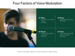 Four Factors Of Voice Modulation