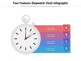 Four Features Stopwatch Clock Infographic