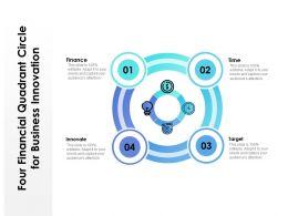 Four Financial Quadrant Circle For Business Innovation