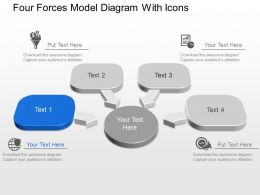 Four Forces Model Diagram With Icons Powerpoint Template Slide