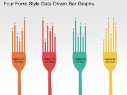 Four Forks Style Data Driven Bar Graphs Powerpoint Slides