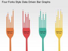 Four Forks Style Data Driven Bar Graphs Powerpoint Slides