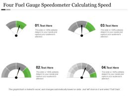 Four Fuel Gauge Speedometer Calculating Speed