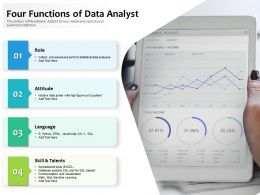 Four Functions Of Data Analyst