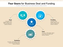 Four Gears For Business Deal And Funding