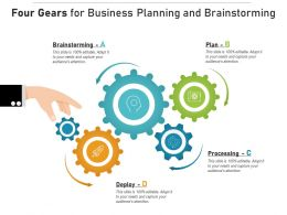 Four Gears For Business Planning And Brainstorming