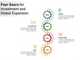 Four Gears For Investment And Global Expansion