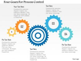 Four Gears For Process Control Flat Powerpoint Design